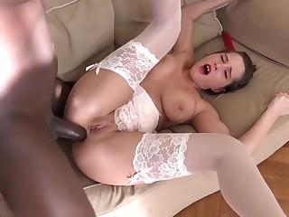 Teen Beautiful Chunky Tits Tries Anal With Black Boyfriend