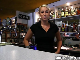 Public Pickups - HOT Czech bartender paid for steep fellow-feeling a amour