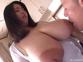 Amateur Asian with huge tits, out of one's gourd POV viva voce
