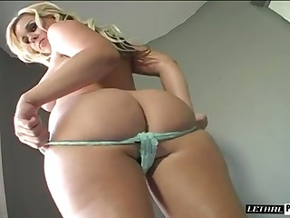 This babe knows that her butt has magical powers over men and she's busty