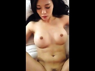 Asian in the matter of beamy bosom getting fucked