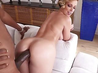 Big black flannel anal