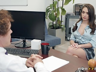 Ashly Anderson adores having good sex with her horny boss in the office
