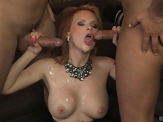 Tarra Wan didn't think twice before having two hard dicks with regard to her mouth