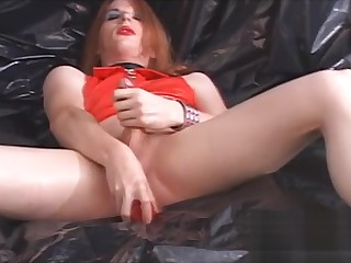 anal Toying For A TS In Latex