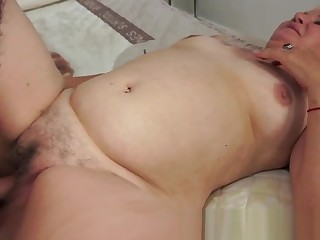 Chubby gilf pleasuring her lovers load of shit