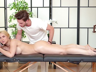 Sexy business main Sarah Vandella is likeable with handsome massage schoolboy