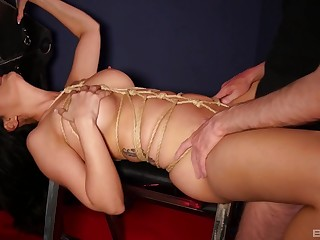 Amazing bondage carnal knowledge and orgasms for the naked wife