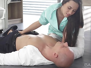Horny nurse Mea Melone loves to divest her patients swollen malarkey