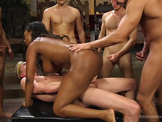 Nasty interracial for slay rub elbows with busty ebony