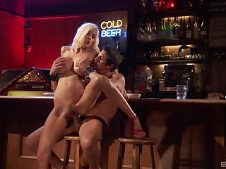 Matured blonde pornstar Puma Swede gives head and rides a cock