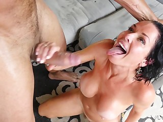Veronica Avluv doesn't miss the chance to drag inflate with an increment of have sexual intercourse a monster cock