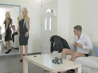 Classy babes Chloe Lacourt and Inga Demon in amazing threesome