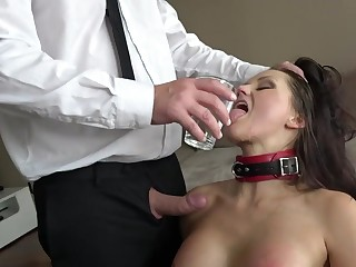 Submissive MILF pleases marketable boss with insane BDSM porn