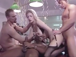 Lovely German stocking mart has orgy for her 18th birthday