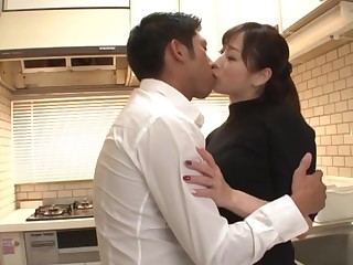 Japanese fit together pleases hubby with lovemaking when he returns home