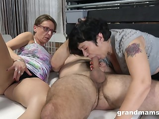 Matures share cock roughly ways they always dreamed when they were younger