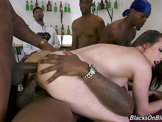 Aching for dick whore in gang bang hardcore advanced