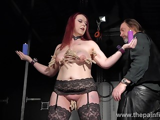 Bootylicious redhead campo stockings Kitty is ready of some bondage