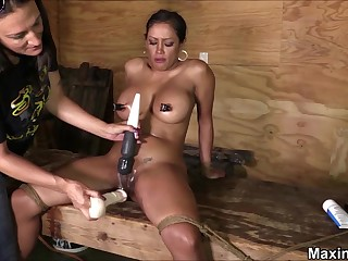 Hardcore BDSM-styled chastisement be proper of busty stunner