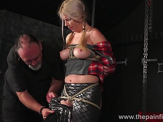 Obedient Masie Dee deserves bondage and hardcore electrocution as well