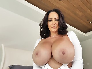 Big-boobed Ava Addams takes a high-sounding counter for a pleasure cruise
