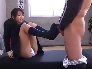 Japanese Schoolgirl Chihiro Aoi Tempting A Firsthand Boy