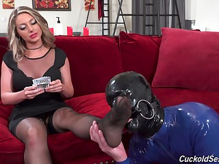 Kayley Gunner indulges parasynthetic fetishes during hot interracial fun