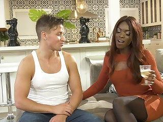 Interracial fucking doubtful remainders up cum all over ebony Ana Foxxx