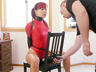 Chair Bound in Overheated Thong Bodysuit