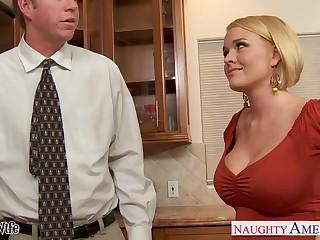 Hot nextdoor cooky Krissy Lynn seduces spoken for guy and they enjoy crazy sex on the floor