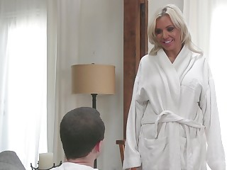 Incomparable blonde Nina Elle has a blast with a thick cock