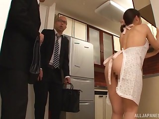 Addictive home anal give the Japanese wife
