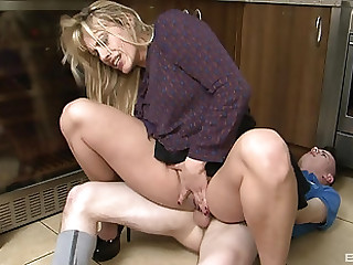 Brittany Bardot rides a dick on the floor comparable to will not hear of life depends on clean out