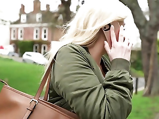 Picked up blonde roughly fucked for money
