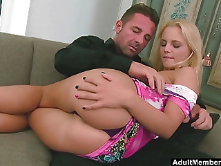 Sweet blonde Vanda Lust gets say no to tight pussy banged mercilessly