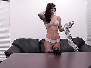 Daring womanlike strips off and flaunts her goodies