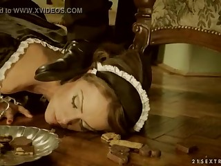 Awkward Maid Sophie Lynx ruptured by her lord